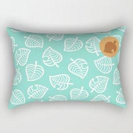 cute ac nook shirt pattern leaf green tropical island Rectangular Pillow