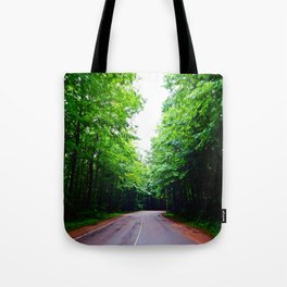 Winding Road in Forest Tote Bag