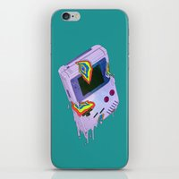 gameboy iPhone & iPod Skins featuring Gameboy Melt by KING BOZU