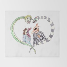 Beetle juice - Adam & Barbara Throw Blanket