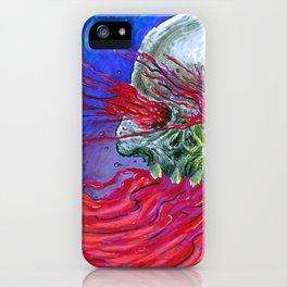 Galaxy Blood Skull Art iPhone Case
