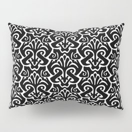 Art Nouveau Pattern Black And White Pillow Sham