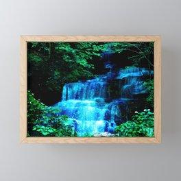 Enchanted waterfall. Framed Mini Art Print