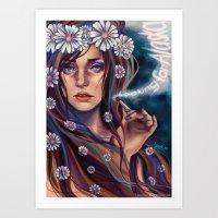 looking for alaska Art Prints featuring Looking for Alaska by Loorae