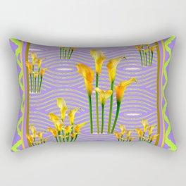 Lime Trellis Lilac Diamonds Calla Lilies Rectangular Pillow