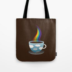 Cup of Rainbow Tote Bag