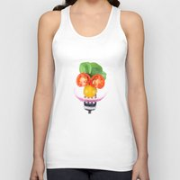 vegetables Tank Tops featuring Happy Vegetables by Chantal Seigneurgens