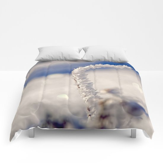Sparkling hoar frost I Winter Snow Ice Sun Comforters