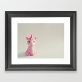 Pink Unicorn Sees You Framed Art Print