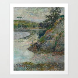 The Banks of River Aven Art Print