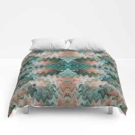 South Western Abstract Mirrored Wavy Pattern Comforters