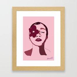 Pink, Flower Framed Art Print