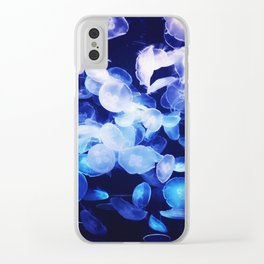 Moon Jellyfish Clear iPhone Case
