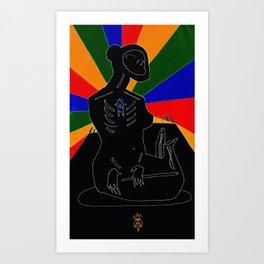 Virgo Nocturne Art Print