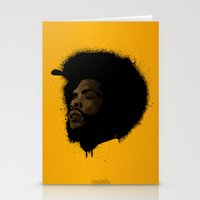 tupac Stationery Cards featuring Questlove 2.0 by The Art Warriors