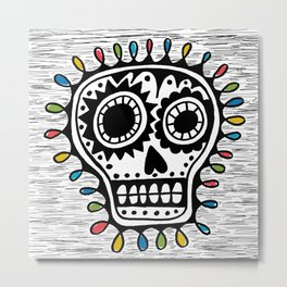 Sugar Skull - sharpie Metal Print