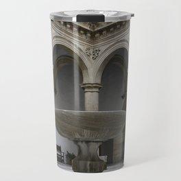 Spanish Patio with Moorish Fountain Travel Mug