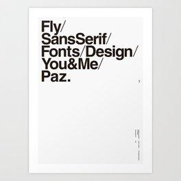 Nº1. Helvetica Posters by empatía® Art Print