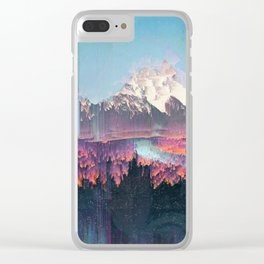 Glitched Landscapes Collection #2 Clear iPhone Case