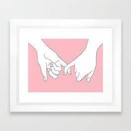 Pinky Promise 2 Framed Art Print