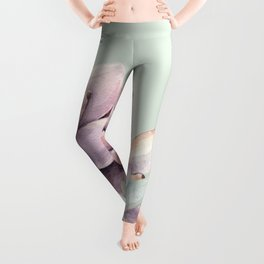 Beautiful Mint Succulents Leggings