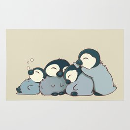Pile of penguins Rug