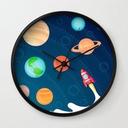 Space Foam Wall Clock