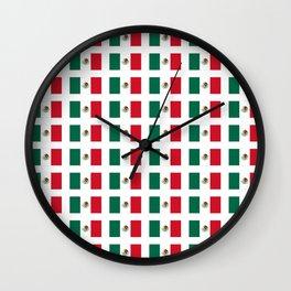 Flag of mexico 3 - mexico,mexico city,mexicano,mexicana,latine,peso,spain,Guadalajara,Monterrey Wall Clock