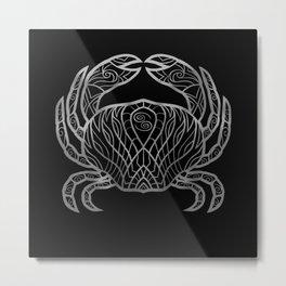 Cancer Silver Metal Print