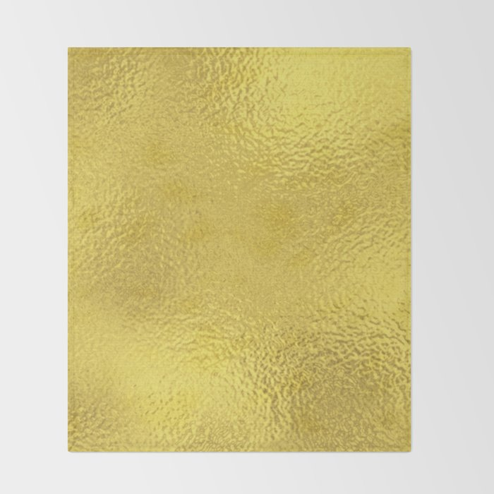Simply Metallic In Yellow Gold Throw Blanket By Followmeinstead