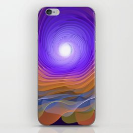 Whispering water and a blue moon iPhone Skin