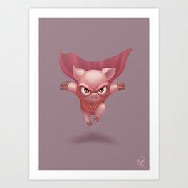 Supa Pig Art Print