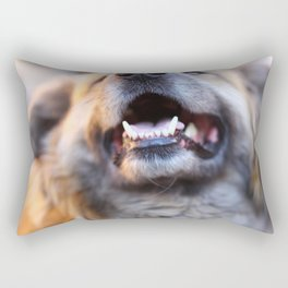 Agressive dog Rectangular Pillow