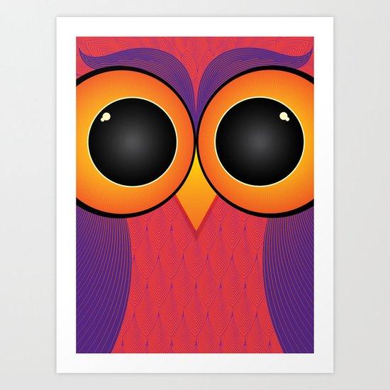 The Curious Owl Art Print