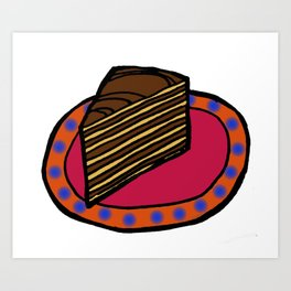 Smith Island Cake - Maryland Art Print