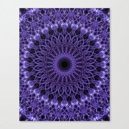 Detailed violet mandala Canvas Print