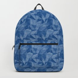 Pantone Turkish Blue 19-4053 Abstract Geometrical Triangle Patterns 2 Backpack