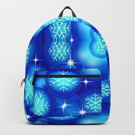 Christmas blue white snowflake pattern SB7 Backpack