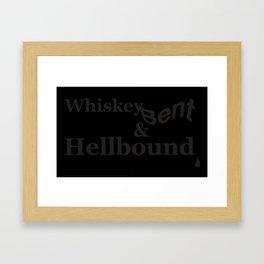 Whiskey Bent Framed Art Print