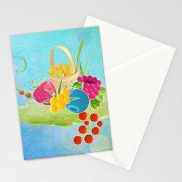 Fruity Island Picnic Stationery Cards