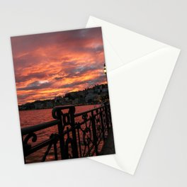 Romantic Sunset View Stationery Cards