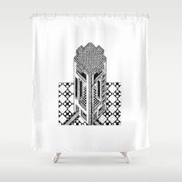 Isometric Tower Shower Curtain