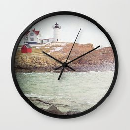 Cape Neddick Lighthouse Wall Clock