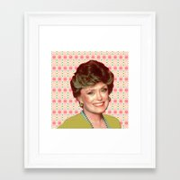 golden girls Framed Art Prints featuring Golden Girls - Blanche by courtneeeee