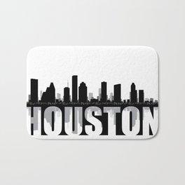 Houston Silhouette Skyline Bath Mat