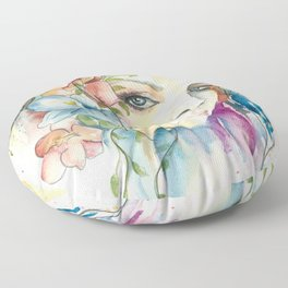 Boho Crystal Woman Floor Pillow