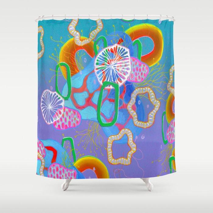 Alien Organisms 16 Shower Curtain