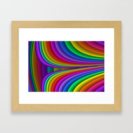 sweeping lines for your home -3- Framed Art Print