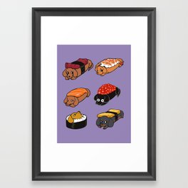 Sushi Daschunds Framed Art Print