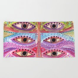 kindly expressed kind of kindness mask Beach Towel